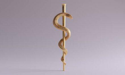 De Aesculaap -slangenstaf-
